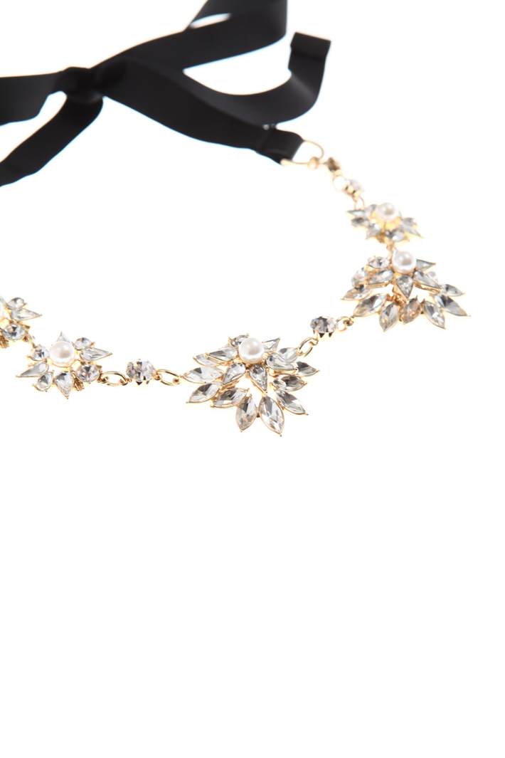 Ribbon necklace with rhinestone Intrend
