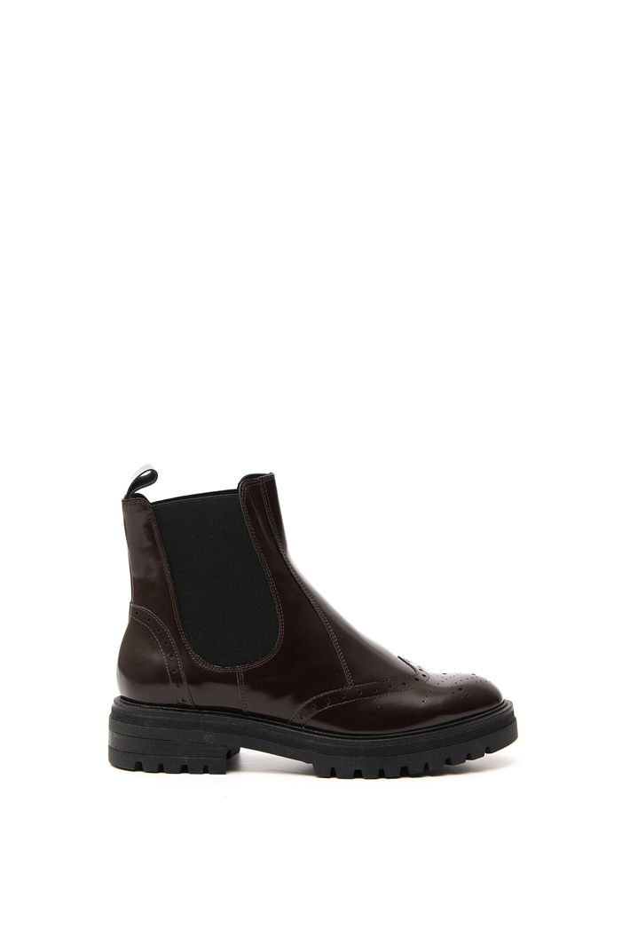 Shiny leather ankle-boots Intrend