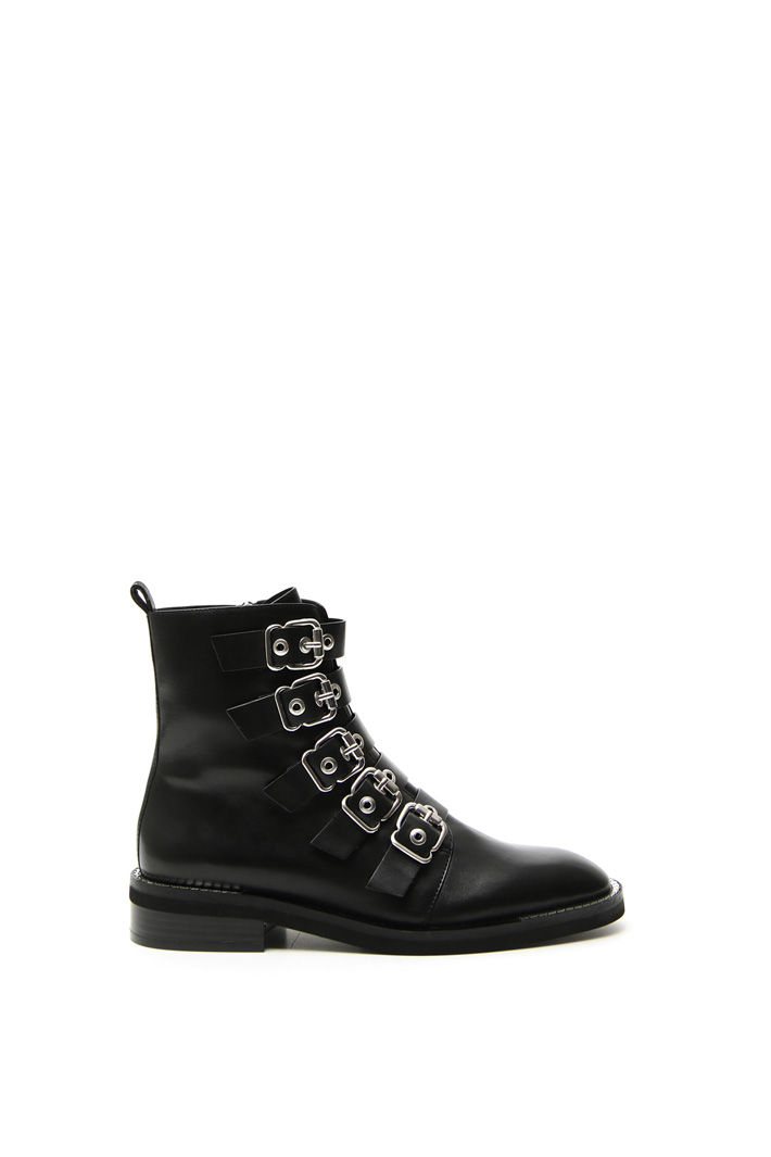 Multiple buckle ankle boots Intrend