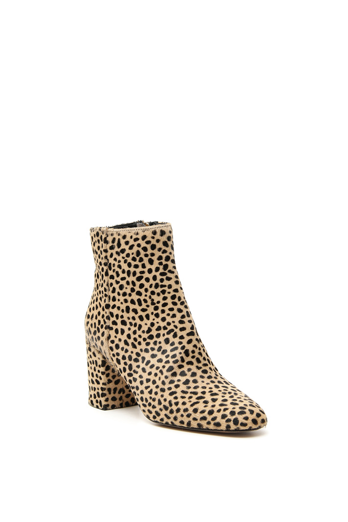 Spotted calf-hair ankle-boots Intrend