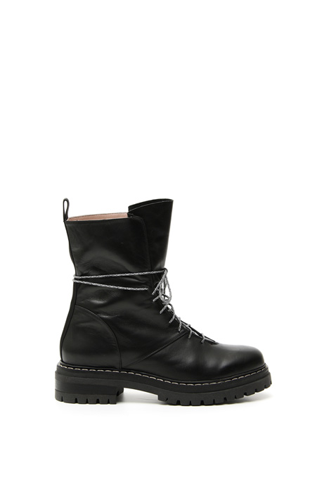 Calf leather biker boots Intrend