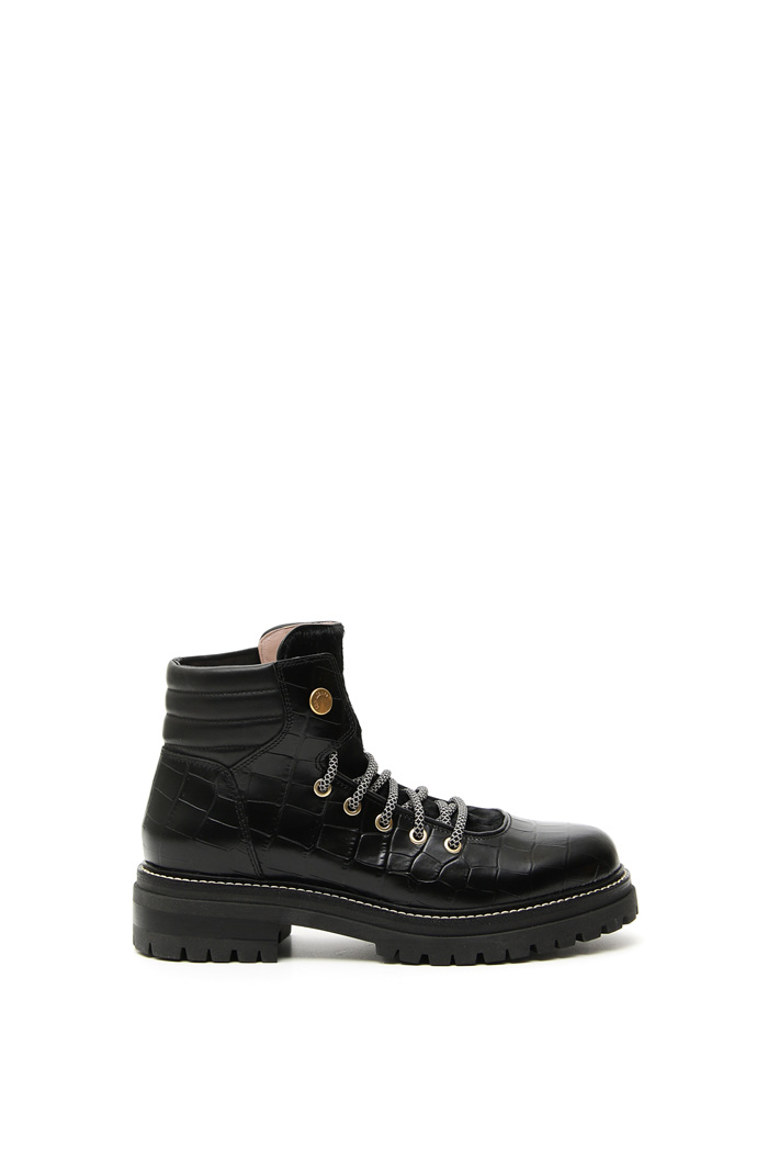 Calf hair hiking boots Intrend