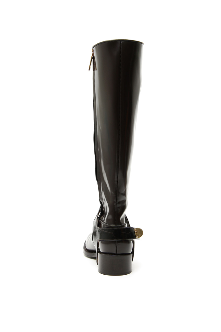 Leather hinge boots Intrend