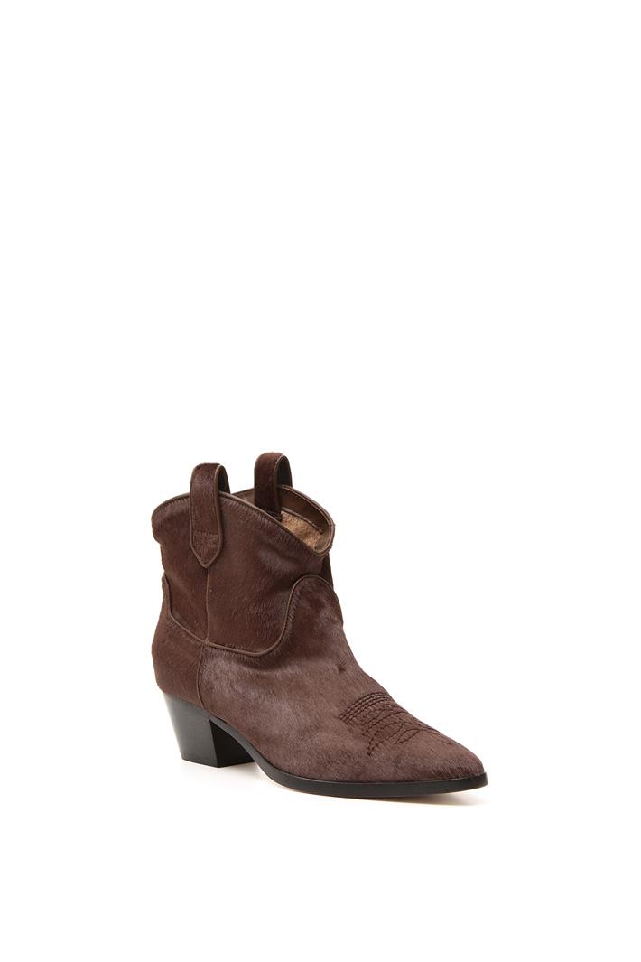 Calf-hair Texas boots Intrend