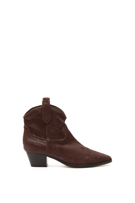 Calf-hair Texas boots Intrend