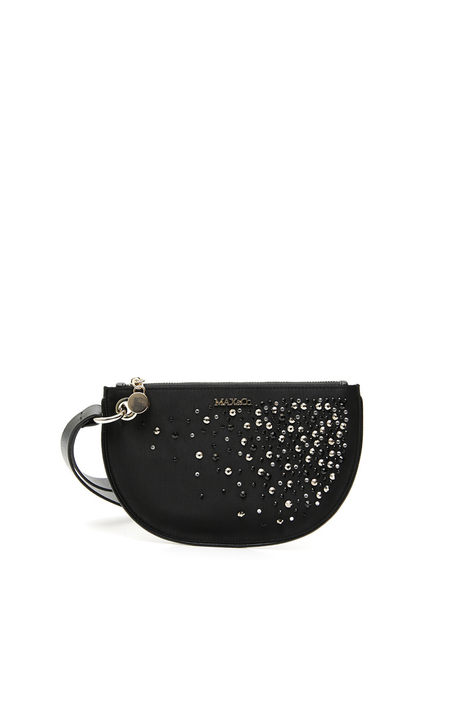 Clutch in raso e strass Intrend