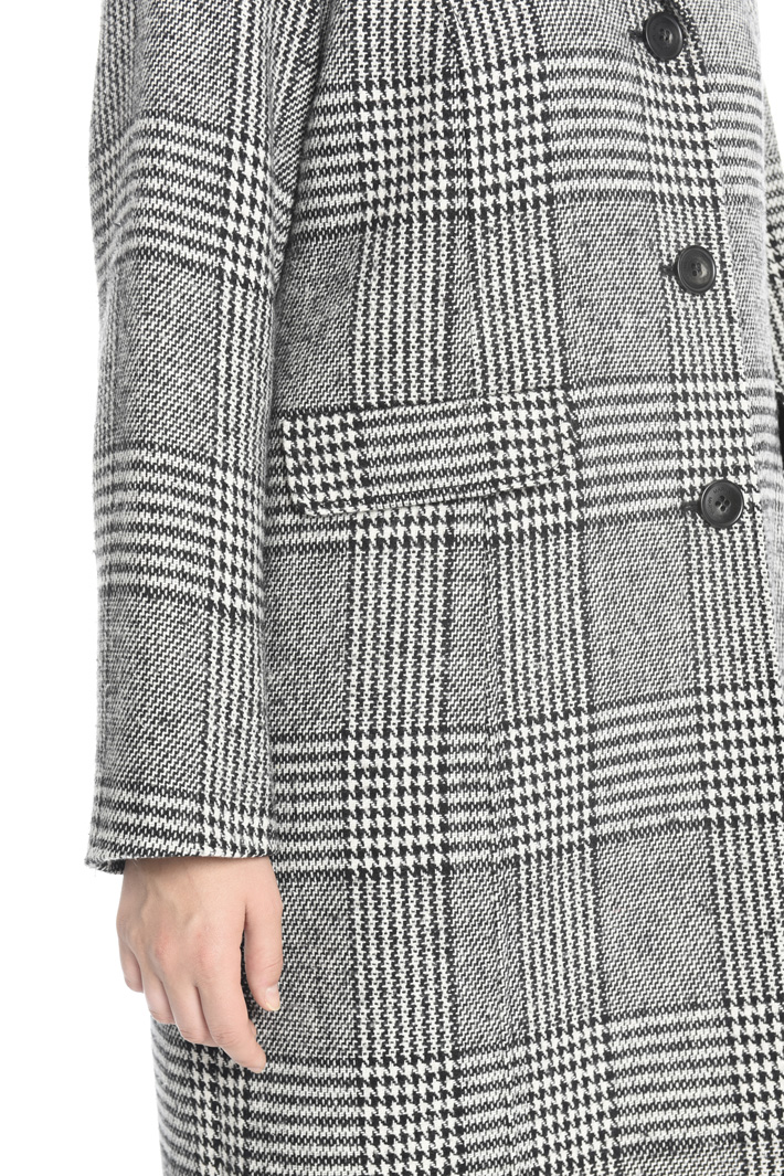 Yarn-dyed checked coat Intrend