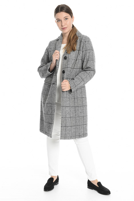 Cappotto check tinto filo Intrend