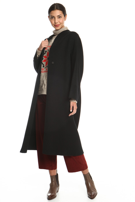 Pleated drap coat Intrend