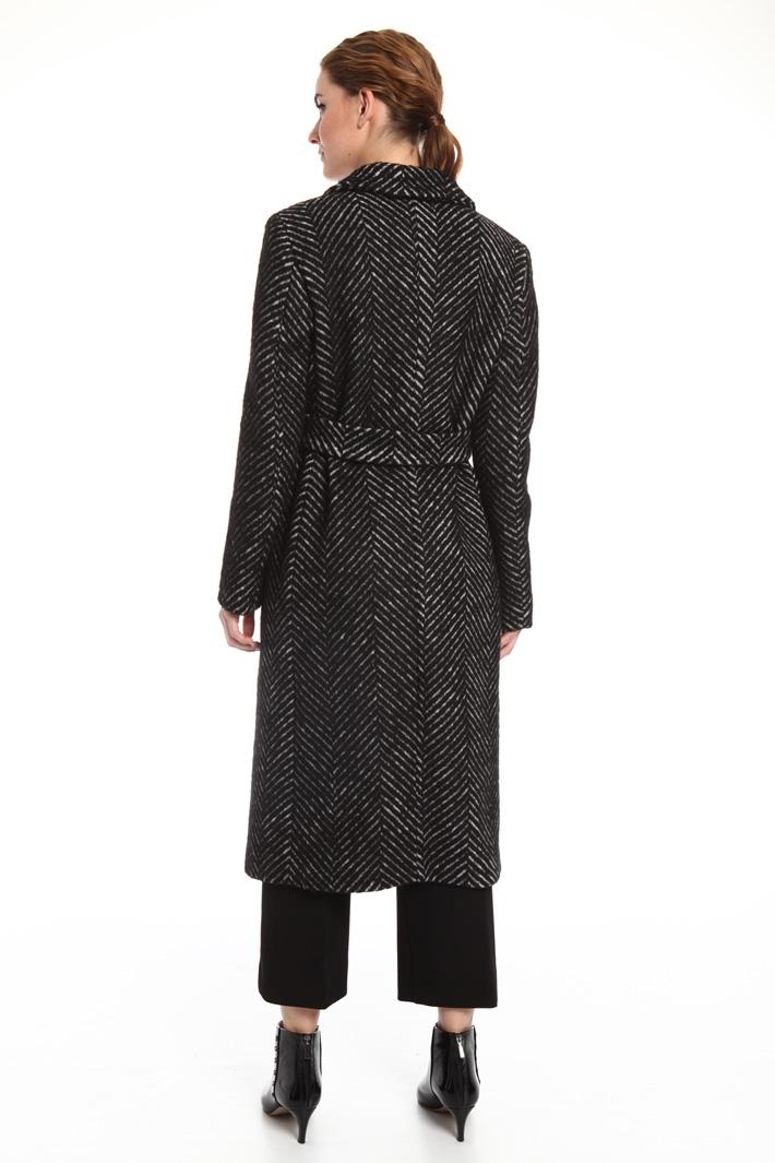 Long chevron coat Intrend