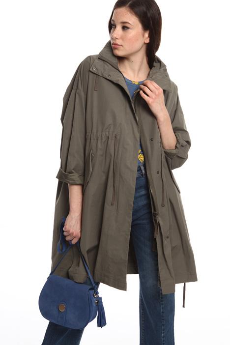 giacca a righe reversibile blu diffusione tessile