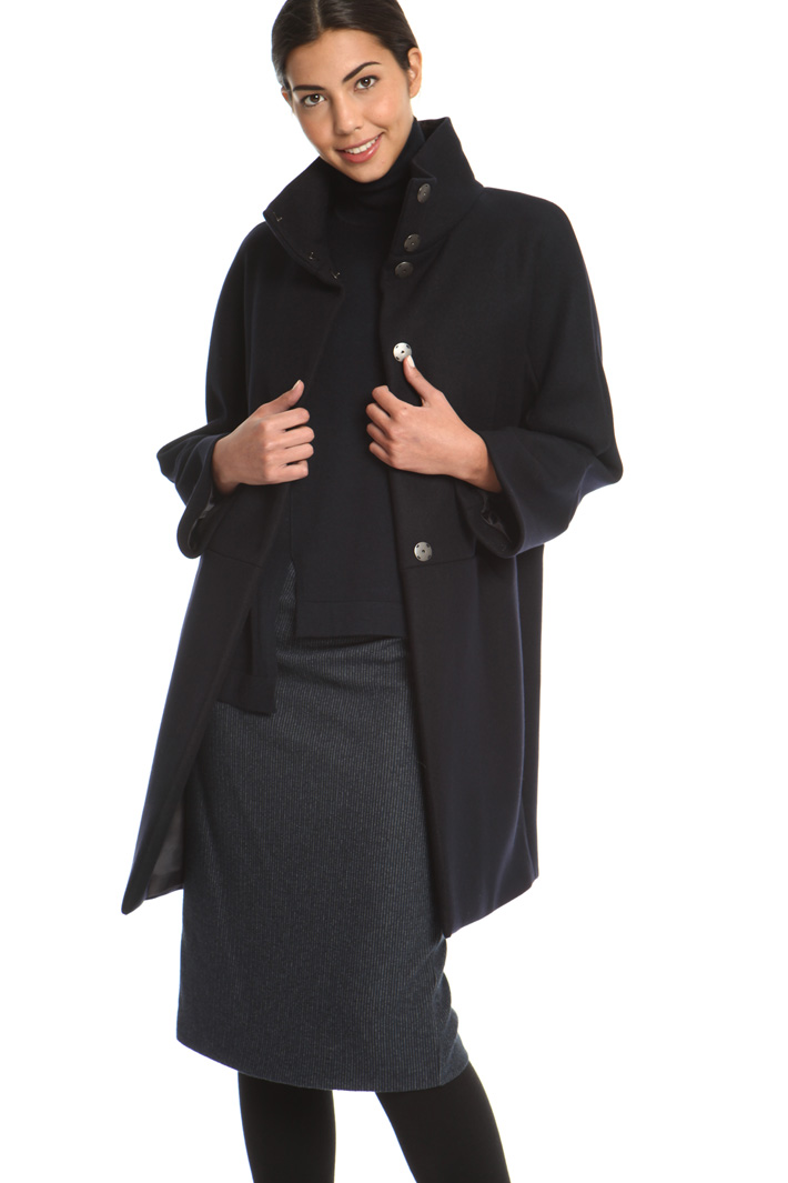 High collar coat Intrend