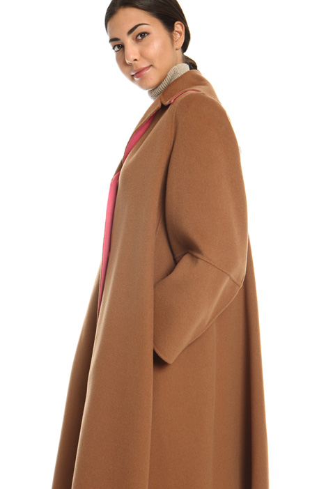 Flared drap coat   Intrend