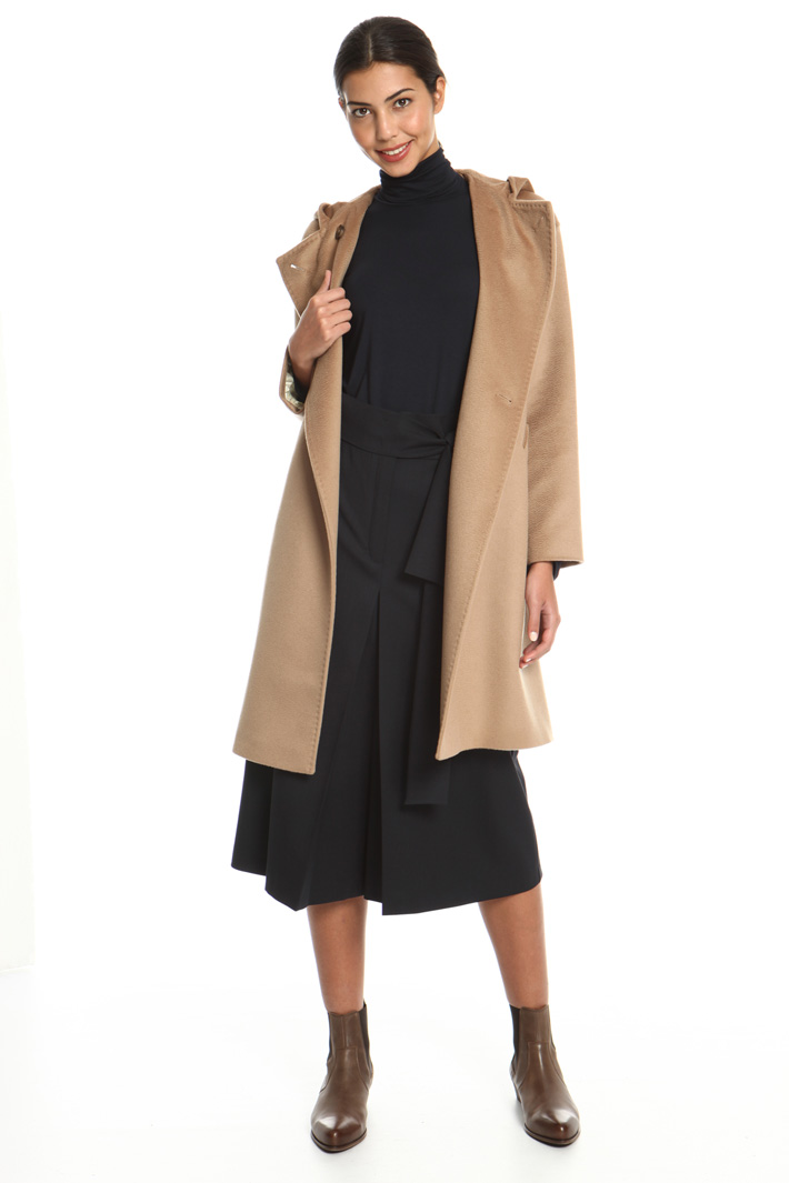 Hooded wool drap coat Intrend