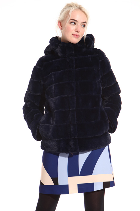 Fur-effect puffer jacket Intrend