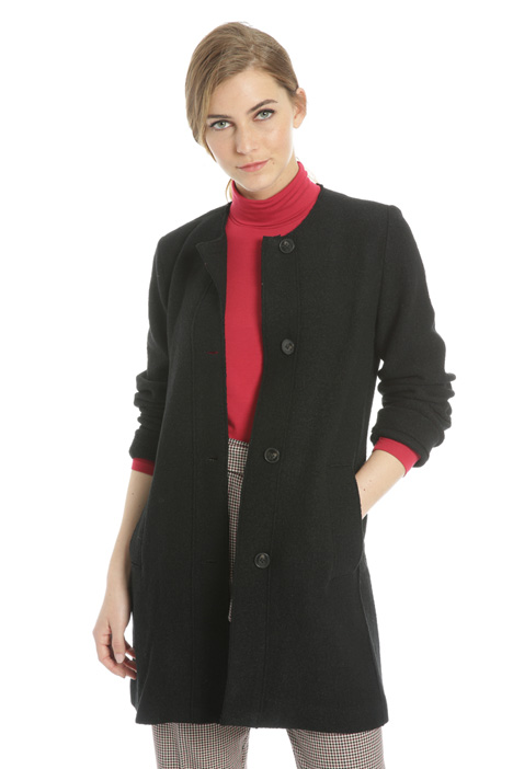 Boiled wool coat Intrend