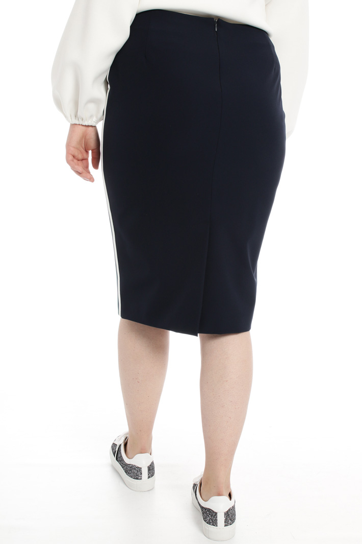 Skirt with side bands Intrend