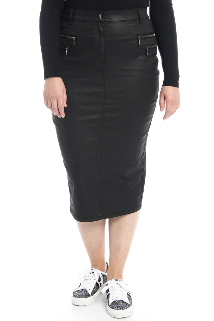 Coated cotton skirt Intrend