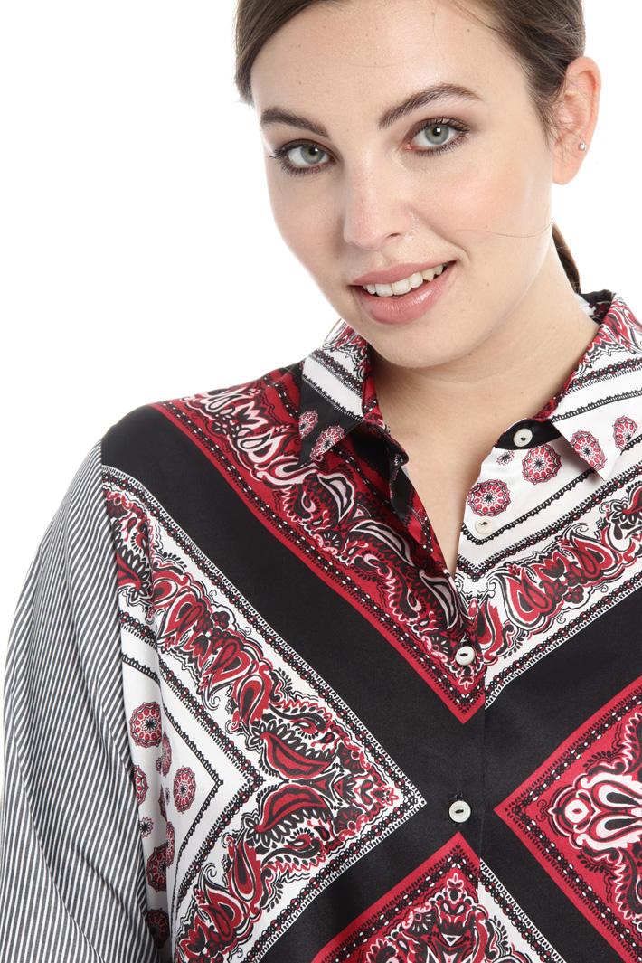Poplin and twill shirt Intrend