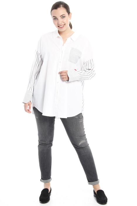 Striped poplin shirt Intrend