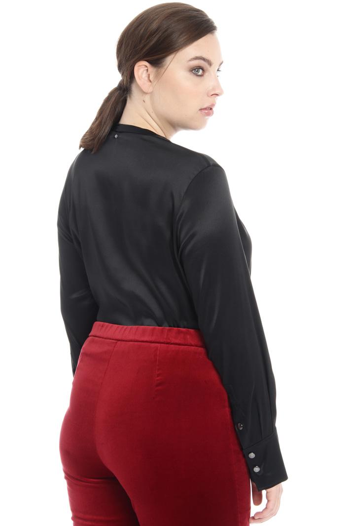 Satin bodysuit shirt Intrend