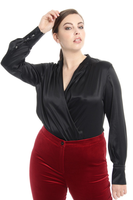 Satin bodysuit shirt Intrend