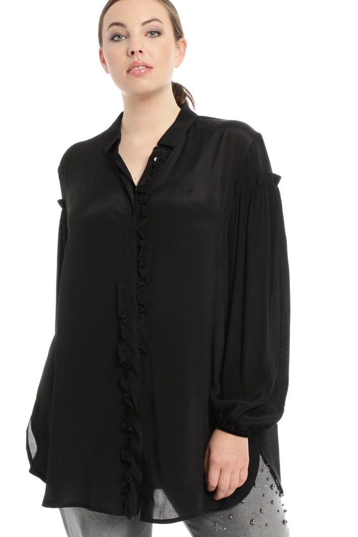 Crepe viscose shirt Intrend
