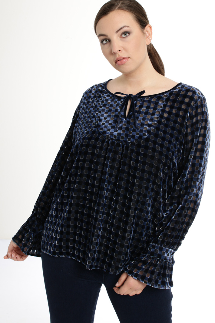 Devoré velvet blouse Intrend