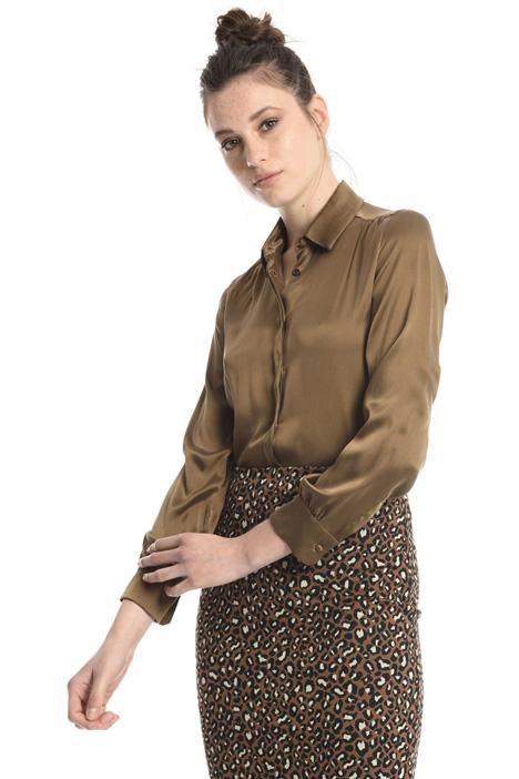 Camicia in raso di seta Intrend