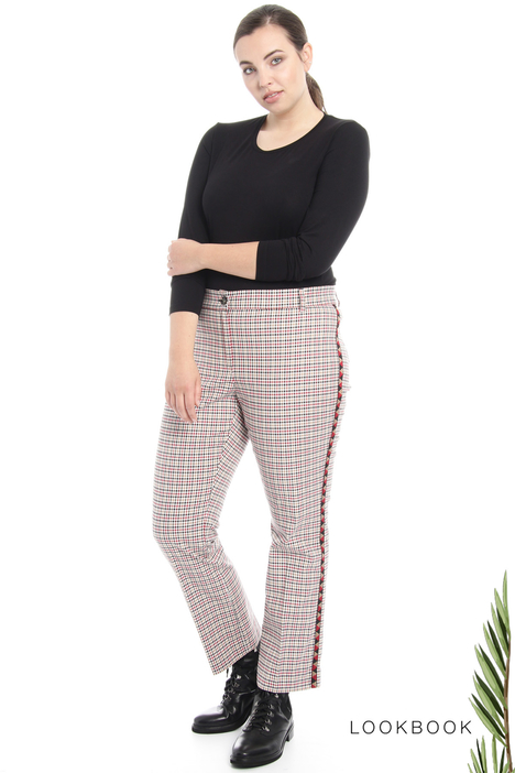 Jacquard insert trousers Intrend