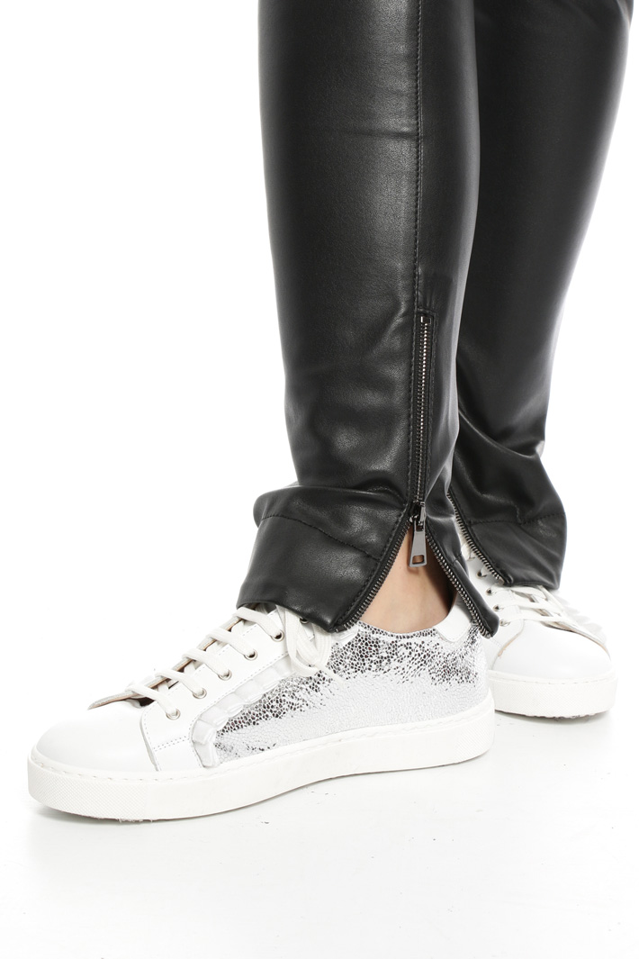 Leather-effect biker trousers Intrend