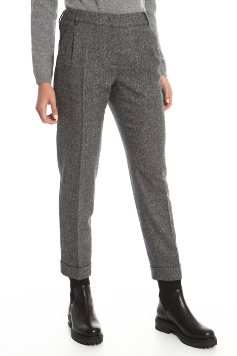Wool tweed trousers  Intrend