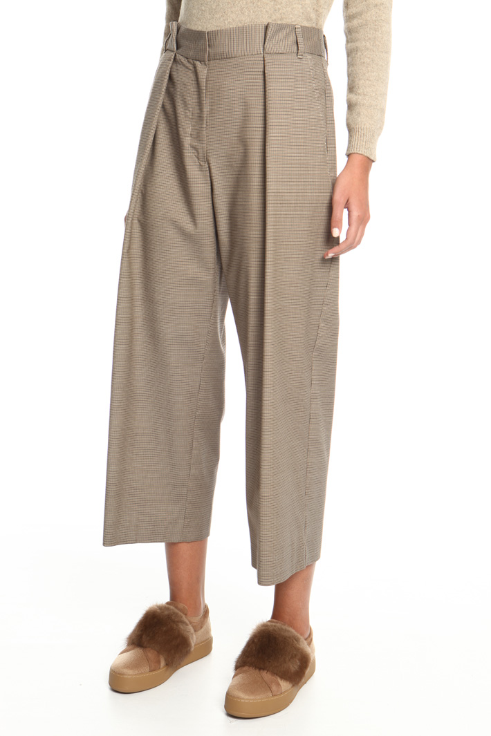 Cropped high waist trousers  Intrend