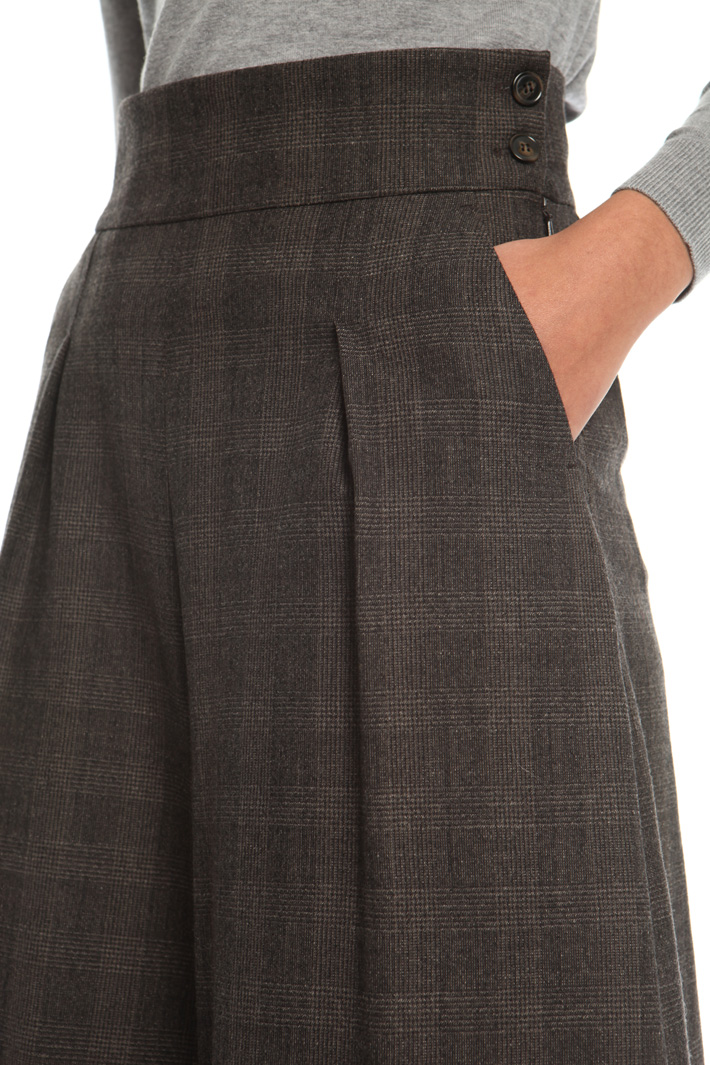 Wide flannel trousers  Intrend
