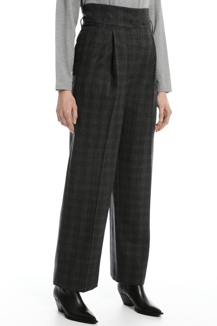 Wool flanel trousers Intrend