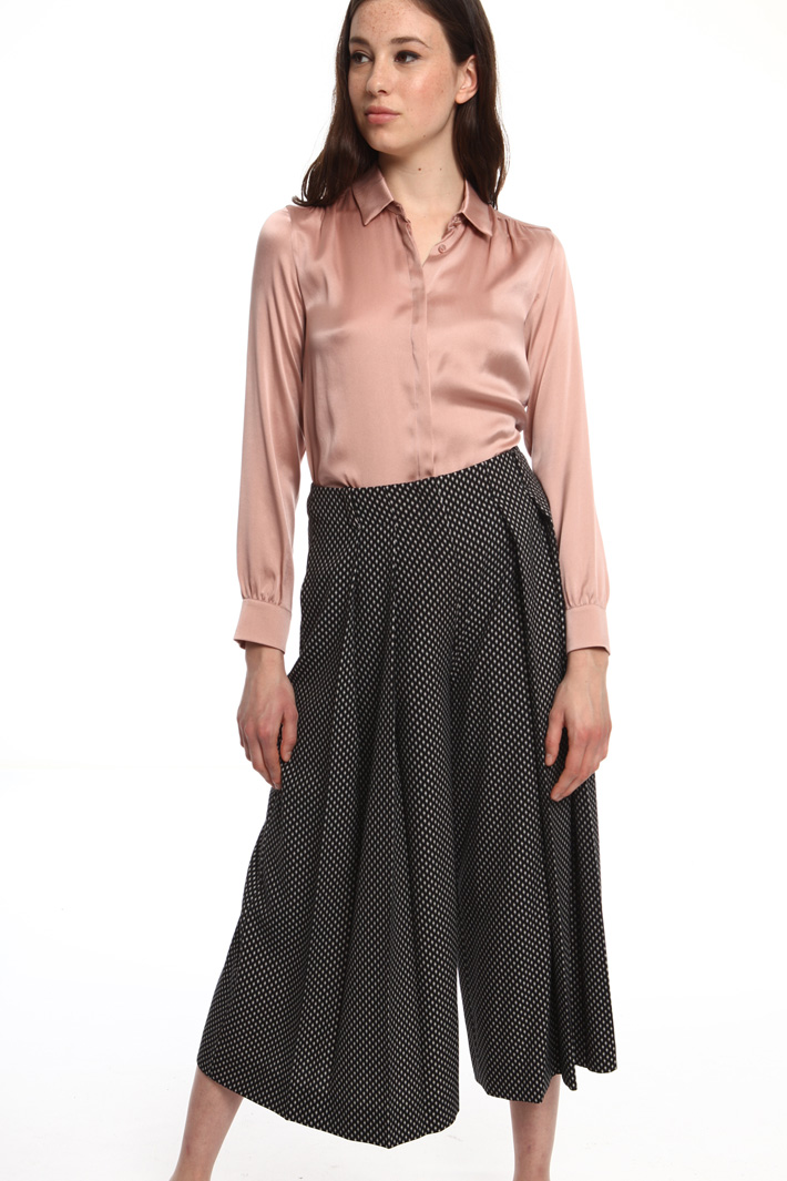 Pleated palazzo trousers Intrend