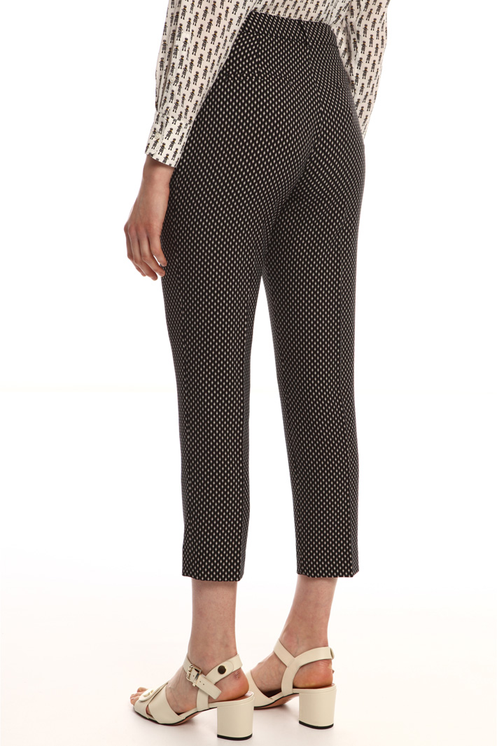 Printed fabric trousers  Intrend