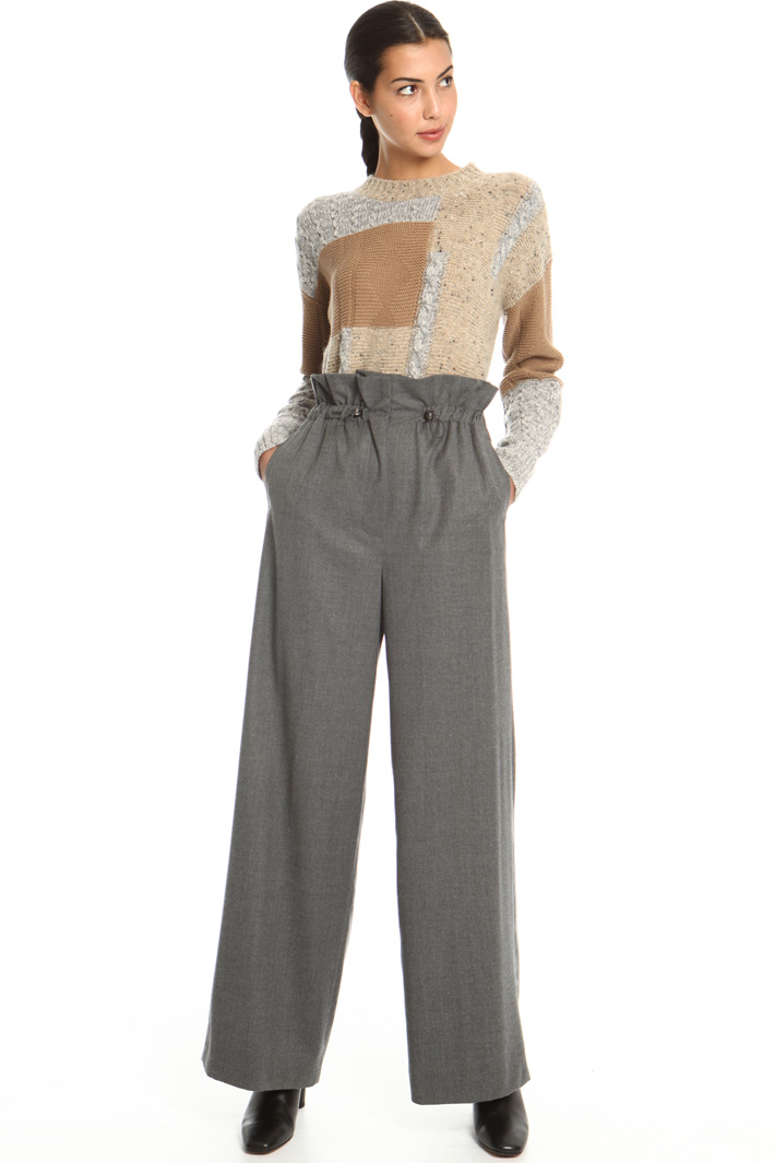 Long drawstring trousers Intrend