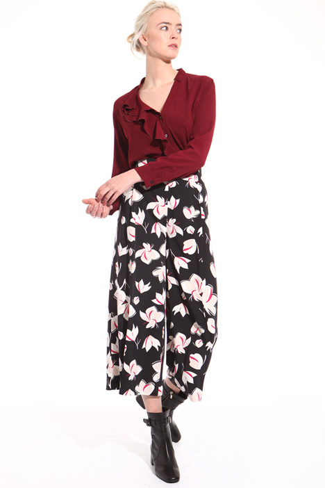 Wide printed trousers  Intrend
