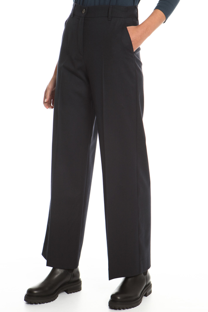 Flannel palazzo trousers  Intrend