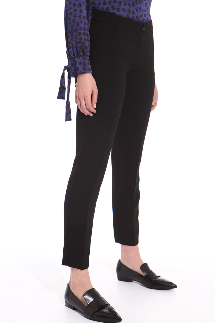 Crepe fabric trousers  Intrend