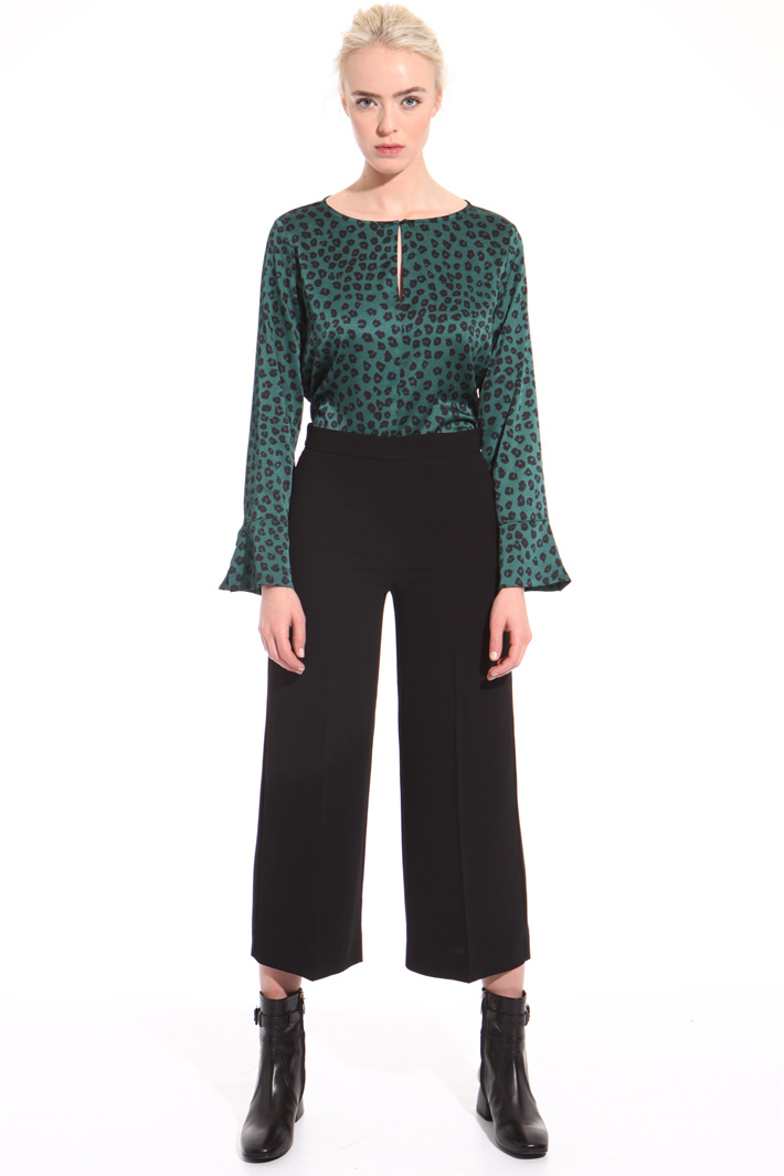 Heavy crepe trousers  Intrend