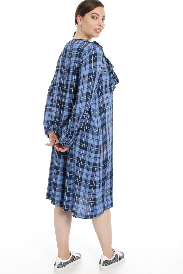 Checked viscose dress Intrend