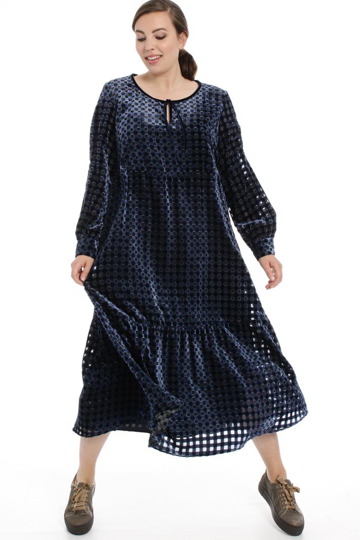 Devoré velvet dress Intrend