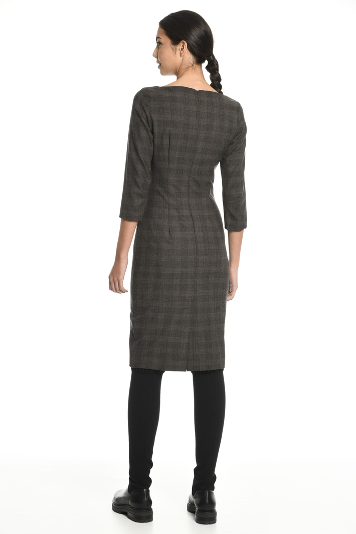 Flannel tube dress  Intrend