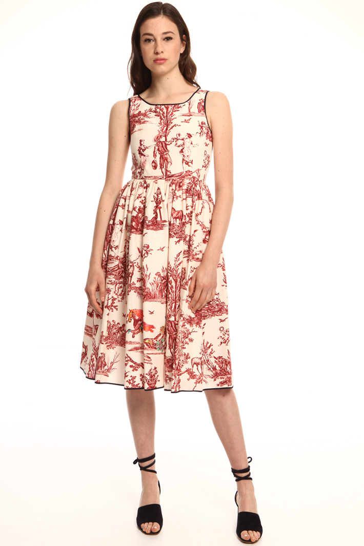 Printed faille dress  Intrend