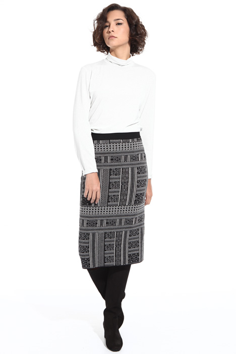Jacquard wool skirt  Intrend