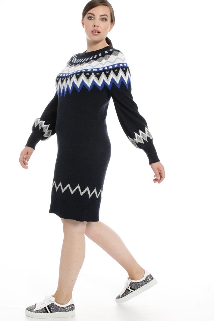 Jacquard dress in alpaca Intrend