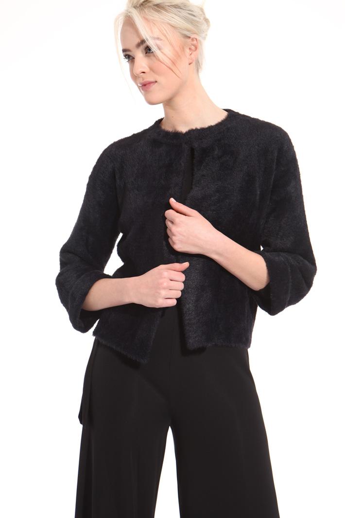 Fur effect cardigan  Intrend