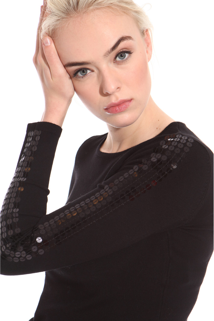Sequin embroidered sweater Intrend